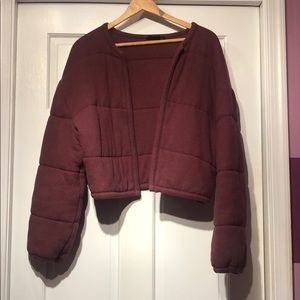 Cropped Soft Puffer Jacket
